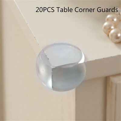 20x Safety Corner Protector Baby Table Edge Guards Clear Table Furniture Edge