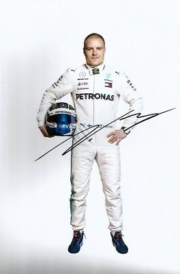 Valtteri Bottas FORMULA ONE MERCEDES BARCELONA 2018 autograph, In-Person signed