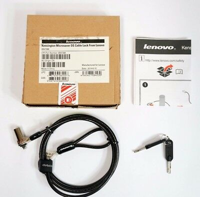 NEW GENUINE Kensington Lenovo Laptop PC Microsaver DS Cable Lock Black (0B47388)