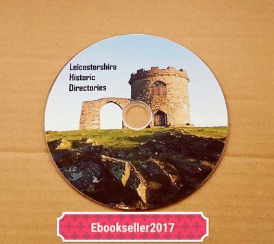 ebooks of Leicestershire directories genealogy history, pdf files for pc on disc