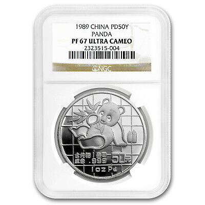 1989 China 1 oz Palladium Panda PF-67 NGC - SKU#167333