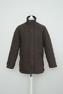 Barbour Mens Quilted Jacket Hampton Brown Size S