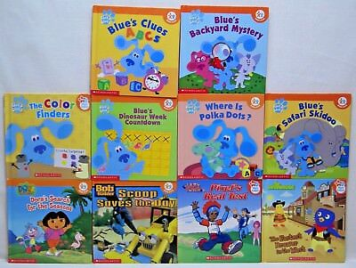 LOT OF 10 NICK JR. Book Club HC Books - Blue\'s Clues Dora Bob the ...
