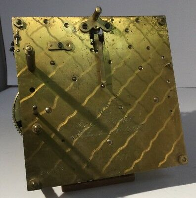 Musterschutz clock movement 773488 For spares repair - Vienna / mantle