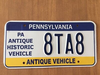 PENNSYLVANIA Antique Historic Vehicle License Plate PA PLATE # 8TA8 Car Auto & PAIR ANTIQUE License Plate PA 1914 Pennsylvania 112319 - $135.00 ...