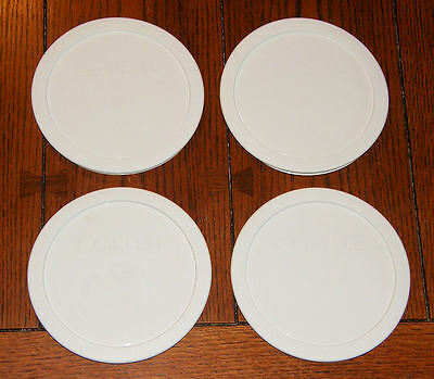 """4 NEW WHITE 6.5"""" CORELLE 28 oz SOUP / CEREAL Bowl LIDS COVERS 428-PC by CORNING"""