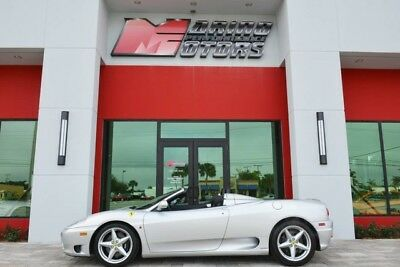 2004 Ferrari 360  2004 360 SPIDER - ONLY 10,000 ORIGINAL MILES - F1 - FULLY SERVICED - FLORIDA