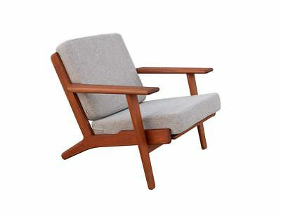 Authentic TEAK Danish Modern Chair GE 290 design Hans J Wegner for Getama 60s 70