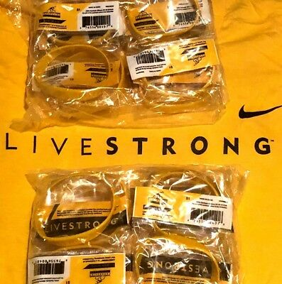 20 LIVESTRONG BRACELETs CHARITY Lot Cancer Awareness Fast Free Shipping Nike