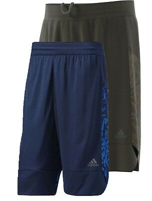 Adidas Men's Essential Print Regular Fit Basketball Shorts NEW Navy Blue Gray