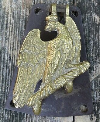 Antique Cast Brass German Eagle Door Knocker