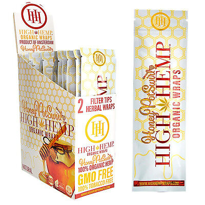 High Hemp Organic Wraps 2 Boxes 50 Pouches (100 Wraps) NON GMO HONEY POT SWIRL