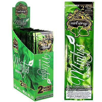 High Hemp Organic MINTY Flavor Wraps Full Box 25 Count (2 Wrap) Total 50 Wraps