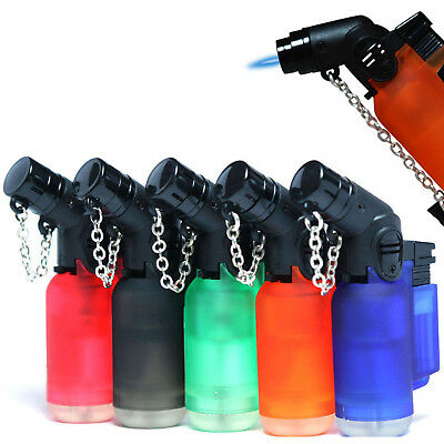 5x Eagle Jet Angle Torch Butane Lighter 45 Degree Angle Windproof Refillable