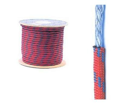 14mm DYNEEMA / POLYESTER SK75 MARINE YACHTING / SAILING ROPE - 50m Red / Blue