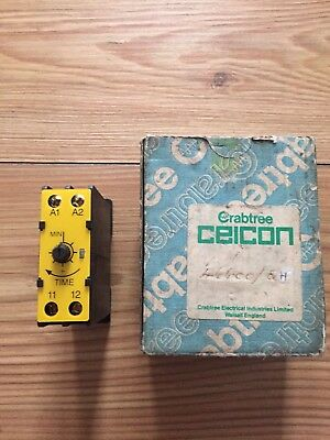 Crabtree Ceicon Electronic Timer List No 46600 Series Time Delay 3-45secs