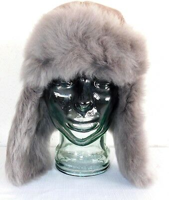 619ee2569 NEW NWT WOMENS Stormy Grey Ugg Toscana Long Pile Trapper Sheepskin Hat O/S  $225