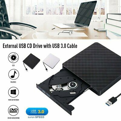 External DVD Drive Ultra Optical USB 3.0 CD DVD-RW Writer for Laptop Desktop PC