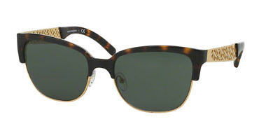 53bed6d248eb Authentic Tory Burch Sunglasses TY6032 3016 71 Havana Gold Frame Green Lens  56MM