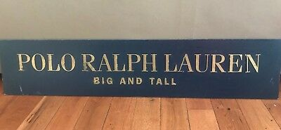 Vtg Ralph Lauren Polo Sport 90s Hanging Advertising Display Sign Banner