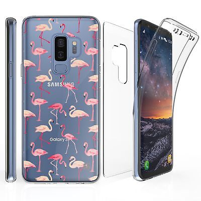 For Samsung Galaxy S9+  Plus Full Coverage Front Back Protector Case Flamingo