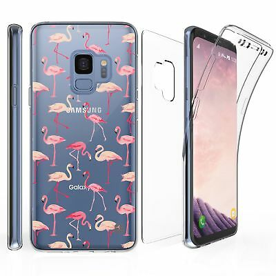 For Samsung Galaxy S9 Full Coverage Front Back Protector Case Flamingo