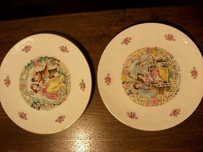 Royal Doulton My Valentine Valentines Day Ltd Edition Plates 1978 AND 1979