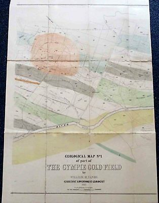 Gympie Goldfield. Map#1. 1888