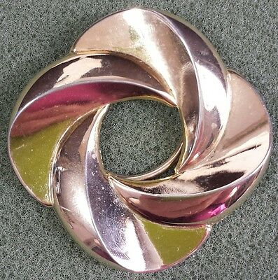 Vtg Jewelry Scarf Clip Brooch Gold Tone Metal Classic Unique Design Beautiful...