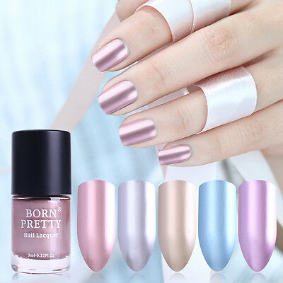 Metallic Nail Varnish Mirror Effect Gorgeous Metal Nail Polish Varnish 5 Colors