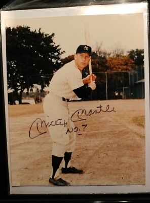 Signed Mickey Mantle JSA Authentic Autograph 8x10 photo auto inscribed signature