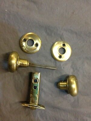 Vintage/Antique 1940s Mid Century or earlier, Rare, Brass Door Knob, One Only