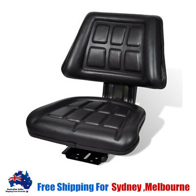 Universal Leather Tractor Seat Backrest Excavator Truck Chair Padded Black U8O8