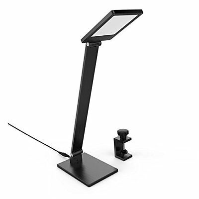Clamp On LED Desk Lamp, BESTEK 2 in 1 Dimmable Touch Table Lamp with Clip