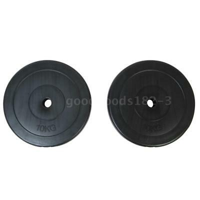 2 Pcs Weight Plate 10 kg Dumbbell Bar Barbell Disc Plates Gym Home Exercise L0J1