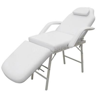 Portable Massage Table Chair Bed Therapy Treatment White 3 Fold Aluminium G1C5