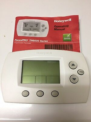honeywell focuspro th6000 series programmable thermostat with manual rh picclick com honeywell focus pro 5000 thermostat manual Honeywell Programmable Thermostat