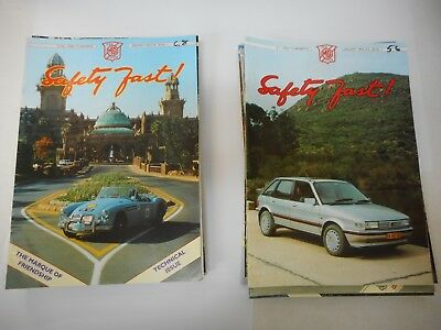 1994 & 1995 Complete Mg Car Club Members Safety First Magazines X 24
