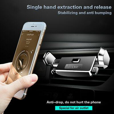 One Hand 360°Universal Gravity Car Mount Air Vent Holder Cradle F Cell Phone GPS