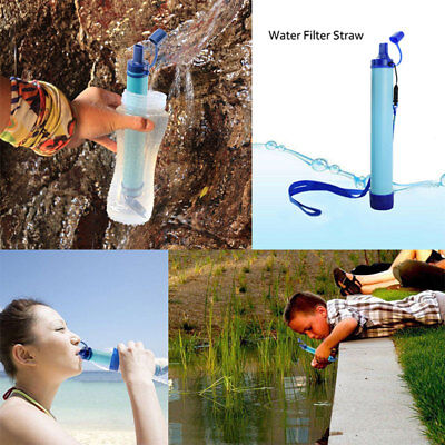 Outdoor Water Purifier Camp Hiking Emergency Life Survival Purifier Water Filter