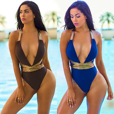 New Ladies One-Piece Swimsuit Beachwear Swimwear push up monokini bikini Bathing