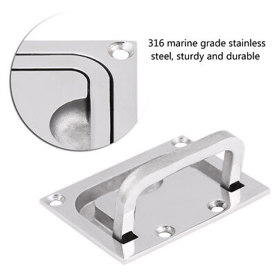 Stainless Steel Boat Hatch Latch Marine Flush Mount Hatch Lift Handle Ring Pull