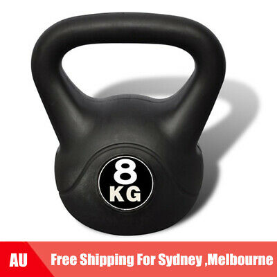 8 kg Kettlebell Gym Weight Fitness Training Kettle Bell Exercise Strength Y8R1