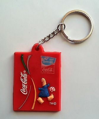 Coca Cola Keychains. Olimpic Games Athens 2004. Rubber