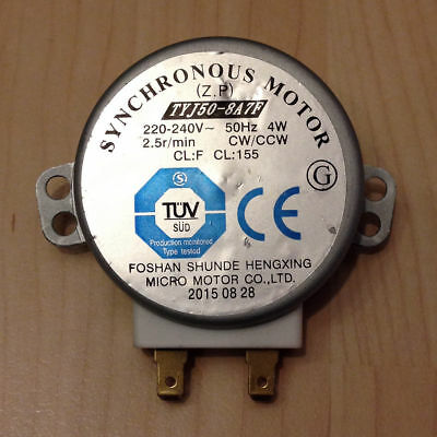 New Microwave Turntable Synchronous Motor TYJ50 - 8A7F CW / CCW Sharp 2.5r /Min