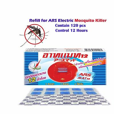 120 Pcs. Ars Mat 12 Hours Mat Refill  Mosquito Electric Repeller Thermacell