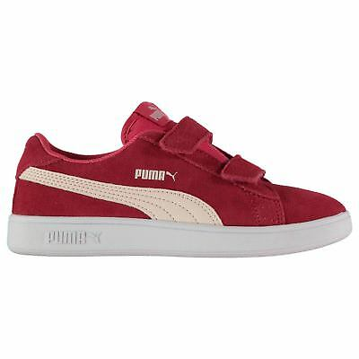 Puma Kids Girls Smash Suede Infant Trainers Strap Casual Comfortable Fit  Tonal 7862930e6