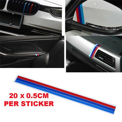 e7, Grille Decal Sticker Sport Stripe 3 Colors Car stickers BMW M Series