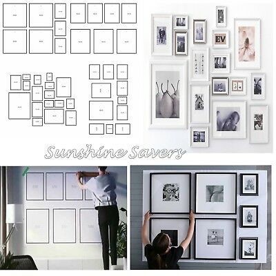 IKEA MATTEBY SET OF 4 Wall Collage Templates For Hanging Photo Picture Frames