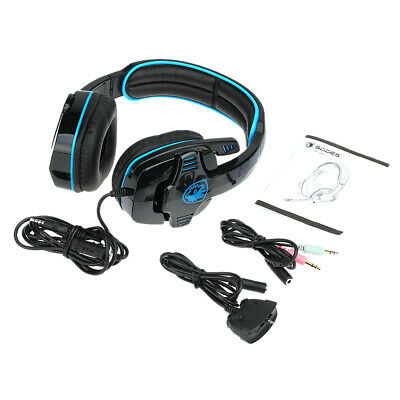 Sades 3.5mm Stereo Gaming Headset Headphone for PS4 XBOX 360 PC + Microphone